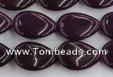 CCN3866 15.5 inches 13*18mm flat teardrop candy jade beads