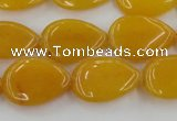 CCN3867 15.5 inches 13*18mm flat teardrop candy jade beads