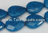 CCN387 15.5 inches 15*20mm faceted flat teardrop candy jade beads