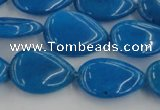 CCN3872 15.5 inches 13*18mm flat teardrop candy jade beads