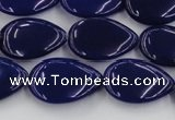 CCN3873 15.5 inches 13*18mm flat teardrop candy jade beads