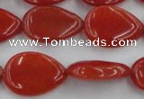 CCN3878 15.5 inches 15*20mm flat teardrop candy jade beads