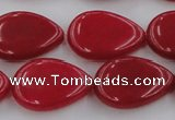 CCN3879 15.5 inches 15*20mm flat teardrop candy jade beads