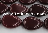 CCN3880 15.5 inches 15*20mm flat teardrop candy jade beads