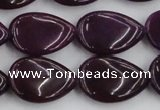 CCN3881 15.5 inches 15*20mm flat teardrop candy jade beads