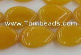 CCN3882 15.5 inches 15*20mm flat teardrop candy jade beads