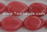 CCN3891 15.5 inches 18*25mm flat teardrop candy jade beads