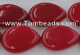 CCN3894 15.5 inches 18*25mm flat teardrop candy jade beads