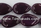 CCN3896 15.5 inches 18*25mm flat teardrop candy jade beads