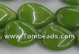 CCN3898 15.5 inches 18*25mm flat teardrop candy jade beads