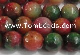 CCN4003 15 inches 10mm faceted round candy jade beads wholesale