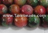 CCN4004 15 inches 12mm faceted round candy jade beads wholesale