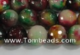 CCN4012 15 inches 10mm faceted round candy jade beads wholesale