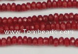 CCN4103 15.5 inches 2*4mm faceted rondelle candy jade beads
