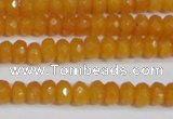 CCN4120 15.5 inches 4*6mm faceted rondelle candy jade beads