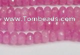 CCN4123 15.5 inches 4*6mm faceted rondelle candy jade beads