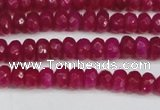 CCN4124 15.5 inches 4*6mm faceted rondelle candy jade beads