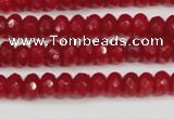 CCN4126 15.5 inches 4*6mm faceted rondelle candy jade beads