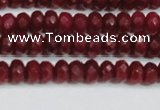 CCN4128 15.5 inches 4*6mm faceted rondelle candy jade beads