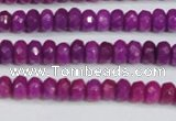 CCN4129 15.5 inches 4*6mm faceted rondelle candy jade beads