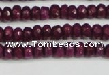 CCN4130 15.5 inches 4*6mm faceted rondelle candy jade beads