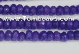 CCN4131 15.5 inches 4*6mm faceted rondelle candy jade beads