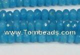 CCN4133 15.5 inches 4*6mm faceted rondelle candy jade beads
