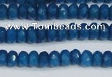 CCN4134 15.5 inches 4*6mm faceted rondelle candy jade beads