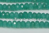 CCN4137 15.5 inches 4*6mm faceted rondelle candy jade beads