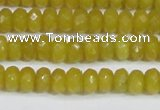 CCN4139 15.5 inches 4*6mm faceted rondelle candy jade beads