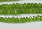 CCN4140 15.5 inches 4*6mm faceted rondelle candy jade beads