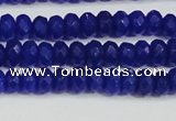 CCN4142 15.5 inches 4*6mm faceted rondelle candy jade beads