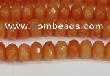 CCN4152 15.5 inches 5*8mm faceted rondelle candy jade beads