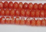 CCN4153 15.5 inches 5*8mm faceted rondelle candy jade beads