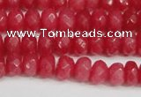 CCN4157 15.5 inches 5*8mm faceted rondelle candy jade beads