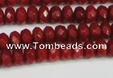 CCN4158 15.5 inches 5*8mm faceted rondelle candy jade beads