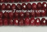 CCN4159 15.5 inches 5*8mm faceted rondelle candy jade beads