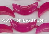 CCN416 15.5 inches 8*30mm curved moon candy jade beads wholesale
