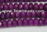 CCN4162 15.5 inches 5*8mm faceted rondelle candy jade beads