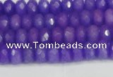 CCN4163 15.5 inches 5*8mm faceted rondelle candy jade beads