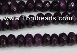CCN4164 15.5 inches 5*8mm faceted rondelle candy jade beads