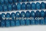 CCN4166 15.5 inches 5*8mm faceted rondelle candy jade beads