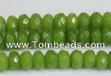 CCN4168 15.5 inches 5*8mm faceted rondelle candy jade beads