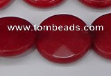 CCN4186 15.5 inches 20mm faceted coin candy jade beads wholesale