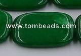 CCN4212 15.5 inches 30*40mm rectangle candy jade beads wholesale