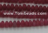CCN4501 15.5 inches 3*5mm rondelle matte candy jade beads