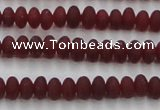 CCN4502 15.5 inches 3*5mm rondelle matte candy jade beads
