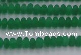 CCN4503 15.5 inches 3*5mm rondelle matte candy jade beads