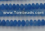 CCN4506 15.5 inches 3*5mm rondelle matte candy jade beads
