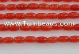 CCN4512 15.5 inches 3*5mm rice candy jade beads wholesale
